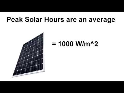 Solar Panels: Peak Solar Hours Explained