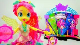 Fluttershy Equestria Girls doll. Rainbow Rocks.