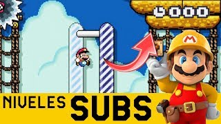 TAN CERCA PERO TAN LEJOS - Niveles de Suscriptores #32 | Super Mario Maker - ZetaSSJ