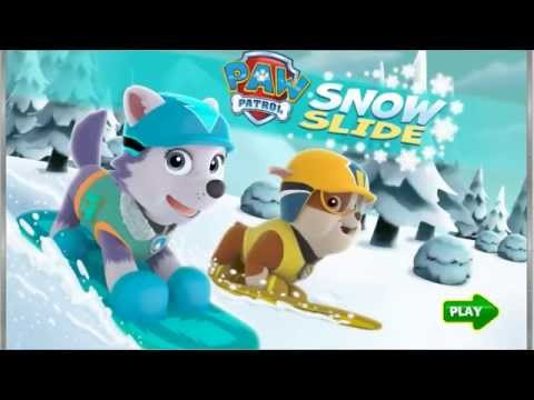 Paw Patrol And The Big Freeze - Paw Patrol Chase And Skye Kiss HD
