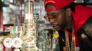 2 Chainz Smokes Out of a $10,000 Bong | Most Expensivest Sh*t | GQ