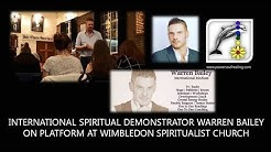 International Spiritual Medium Warren Bailey on Platform at Wimbledon