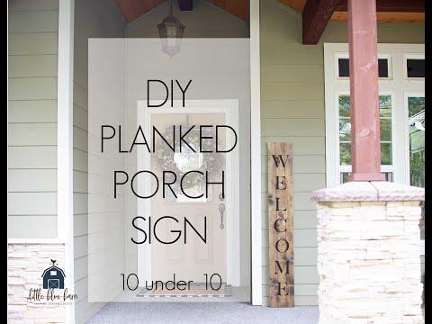 DIY Planked Porch Sign   10 Under 10