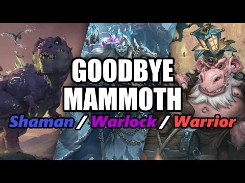 The Past, The Present & The Future of Mammoth Shaman/Warlock & Warrior Cards! | Hearthstone Rotation