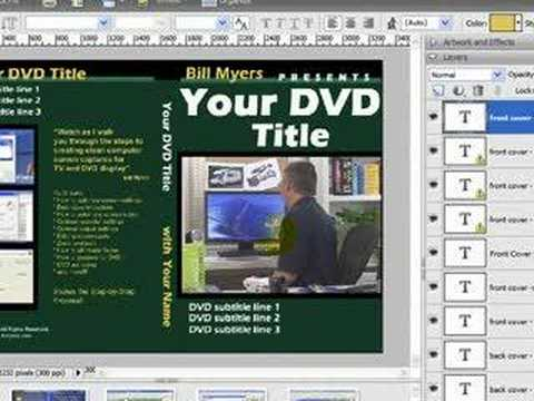 Create DVD case covers using free PhotoShop template - YouTube