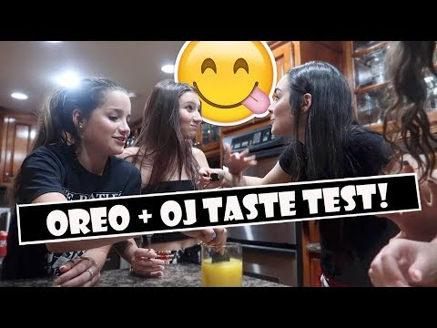 Oreo + OJ Taste Test 😋 (WK 384.5)   Bratayley