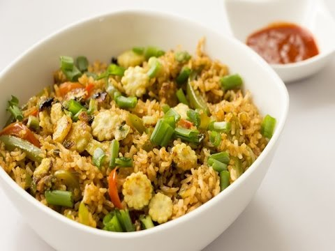 Babycorn and Black Pepper Fried Rice