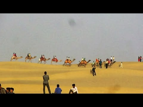 Thar Desert and Sam Sand Dunes- Jaisalmer Tourism - Rajasthan - India