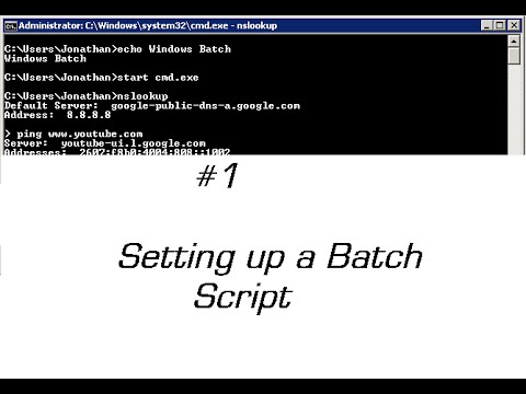 Batch script tutorial batch script tutorial videos | wisdom jobs.