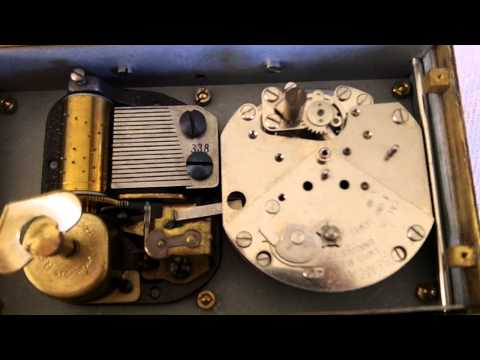 Vintage Swiss Musical Alarm Clock Reuge Musical Movement
