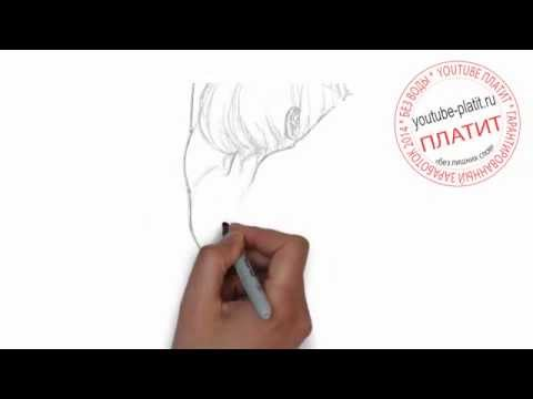 нарисованные девушки карандашом на аву