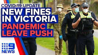 Coronavirus: New quarantine fines, paid pandemic leave, state updates | 9News Australia
