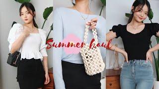 (eng)SUMMER여름 패션하울 • 기본티 코디+블라…