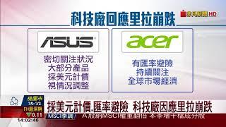 【非凡新聞】台4科技廠陷里拉風暴 華碩:美元計價避險