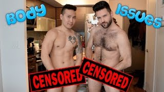 Gay Couple strip down to discuss Male Body Image Issues