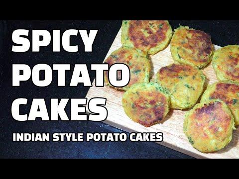 Spicy Potato Cakes - Aloo Tikki - Indian Potato Patties - Indian Potato Burgers