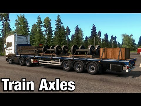 Euro Truck Simulator 2 Beyond The Baltic DLC Timelapse Hauling Train Axles |