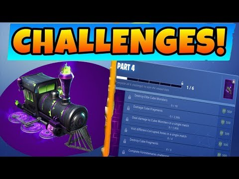 FORTNITEMARES PART 4 CHALLENGES GUIDE! Destroy Elite Cube Monsters + DESTROY CUBE FRAGMENTS