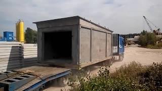 видео Сборный гараж для автомобиля