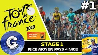 THE GRAND DEPART! | Tour de France 2020 Game PS4 #1 (Team Bahrain McLaren) | Stage 1