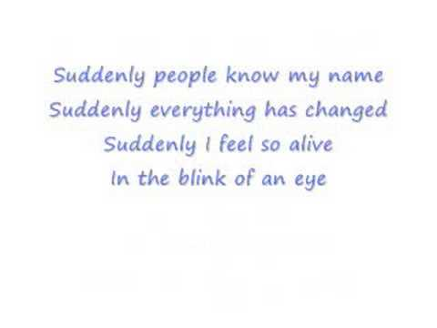 Ashley Tisdale - Suddenly (with lyrics)