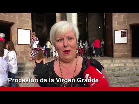 La Virgen Grande Recorre las calles de Torrelavega