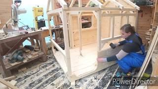 как сделать детский домик из дерева
