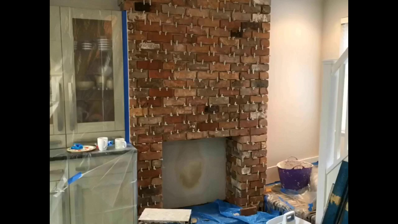 Feature chimney breast just walls uk youtube for Tiled chimney breast images