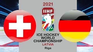 Хоккей Швейцария Германия Чемпионат мира по хоккею 2021 в Риге период 1