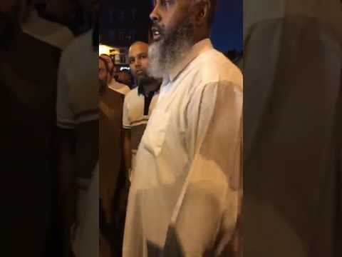 Man gets emotional over Finsbury Park incident  - Phone camera footage