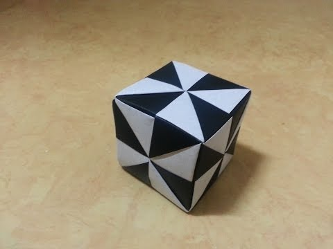 3 Origami 종이접기(큐브 박스) Cube  쉬운 색종이