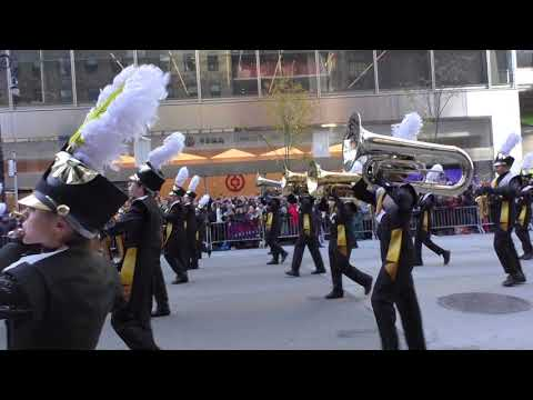 The Trumbull High School Golden Eagle Marching Band in the Macy's Parade. (For more parade coverage, please visit NYCParadelife.com)
