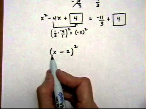 solve quadratic equation by completing the square, a not equal 1 - robichaud.mov