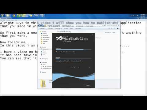 How to publish an application that you made in Microsoft Visual Studio 2008 2010