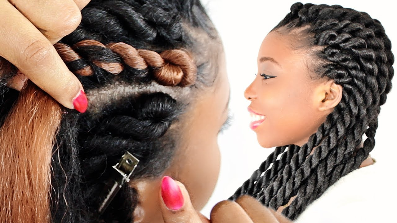 How To Rope Cornrow Braids For Beginners Step By Step Youtube