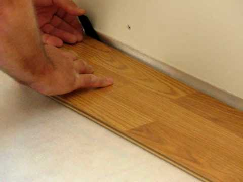 Installing Laminate Flooring First Few Rows Youtube