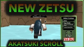 FREE CODES! HOW TO GET THE NEW ZETSU SCROLL|050 UPDATE IS ZETSU OP?!| ROBLOX Naruto RPG- Beyond |
