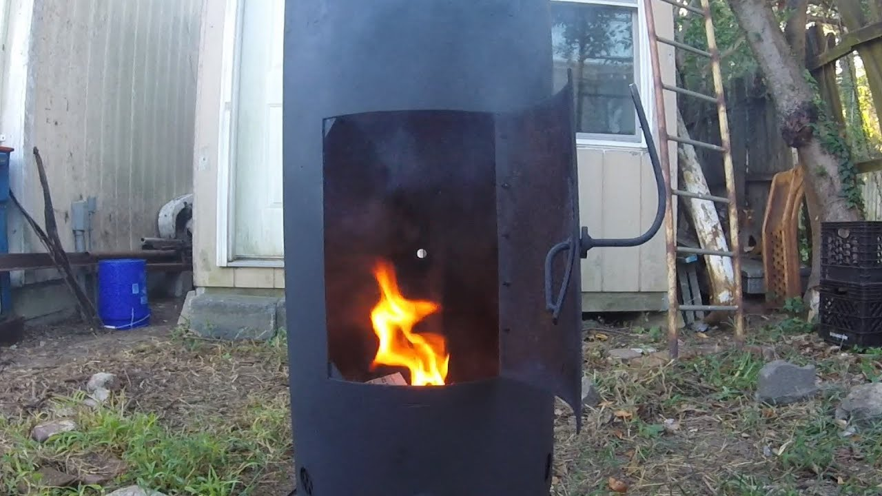 Making An Air Compressor Tank Wood Stove Fireplace Youtube