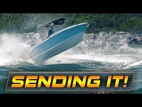 BOATS GO FLYING AT HAULOVER INLET!! | Rough Waves!