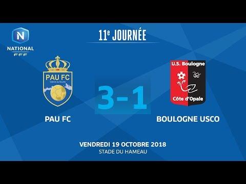 J11: Pau FC - US Boulogne CO (3-1), le résumé