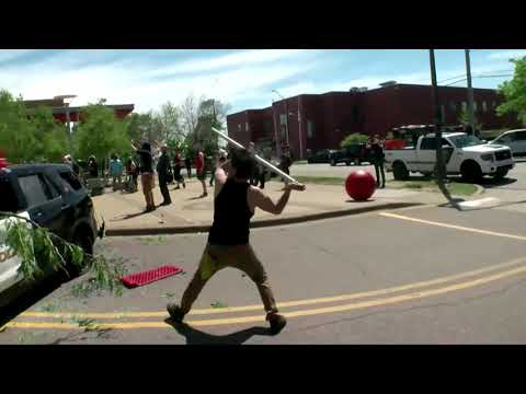 Angry Protesters Smash Police Vehicle In St. Paul, Minnesota