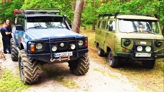 Проходимость Буханки Уаза (ШОК!!!) и Патролище с тракторными колесами.