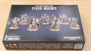 Death Guard - Plague Marines - Unboxing (WH40K)