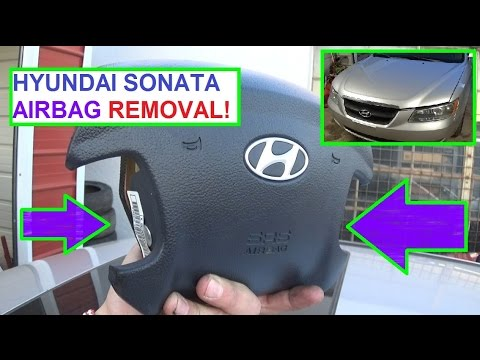 how to remove and replace the airbag on a hyundai sonata air bag 2006 2010