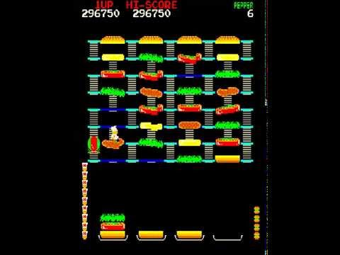 BurgerTime - grouping enemy foods - level 4