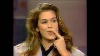 Cindy Crawford on David Letterman - 1989