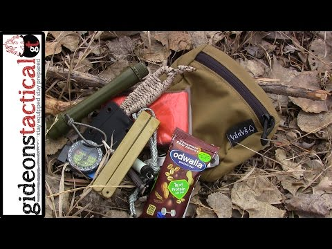 Sabra-Gear Removable Waist Belt Molle Pocket: Mini Survival Kit Inside
