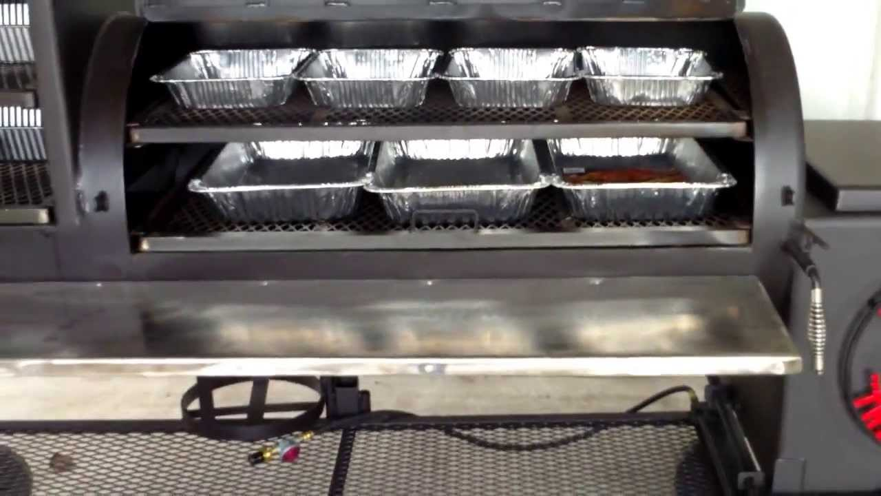 24 X 48 Bbq Smoker With Upright Square Grill Top Firebox