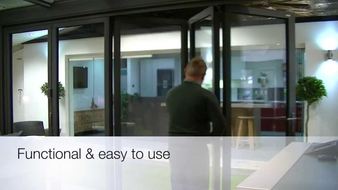 Solarlux SL60e Bi-folding Door & Solarlux SL60e Bi-folding Door - YouTube