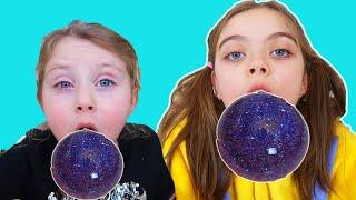 Melissa si Jasmina fac Bule cu Slime   Video pentru copii